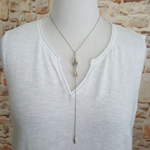 Lucky Brand Jewelry - New Lucky Brand Silver Tone Tulip Necklace
